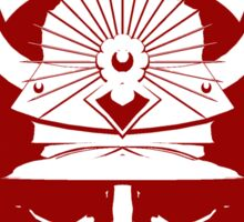 Kabuto graphic in red and white Sticker