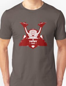 Kabuto graphic in red and white Unisex T-Shirt