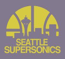 SEATTLE SUPERSONICS BASKETBALL RETRO Kids Tee
