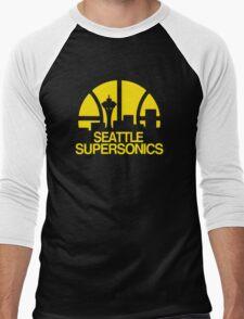 SEATTLE SUPERSONICS BASKETBALL RETRO Men's Baseball ¾ T-Shirt