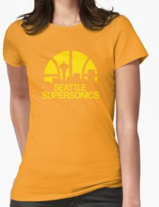 SEATTLE SUPERSONICS BASKETBALL RETRO Womens Fitted T-Shirt