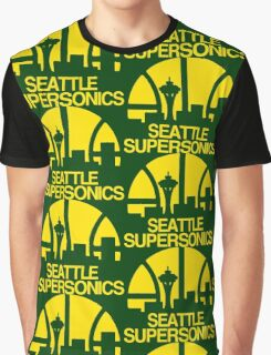 SEATTLE SUPERSONICS BASKETBALL RETRO Graphic T-Shirt