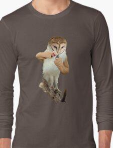 A Barn Owl smoking a Bowl Long Sleeve T-Shirt