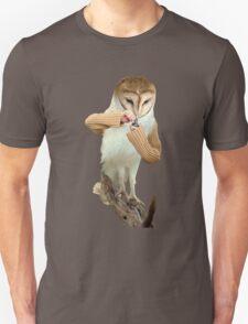 A Barn Owl smoking a Bowl Unisex T-Shirt