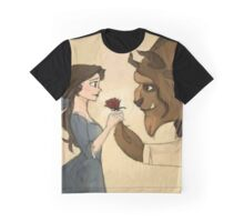 beauty andthe beast give rose Graphic T-Shirt