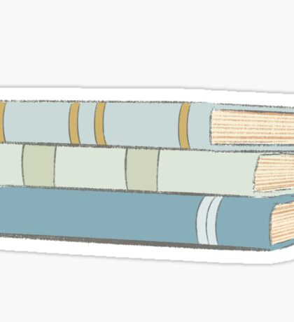 stacked books Sticker