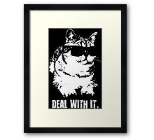Deal With It (Cool Cat) Framed Print