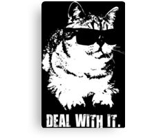 Deal With It (Cool Cat) Canvas Print