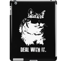 Deal With It (Cool Cat) iPad Case/Skin