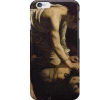 David Victorious over Goliath, CARAVAGGIO. MICHELANGELO MERISI iPhone Case/Skin