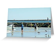 Casting Their Nets For Bait Fish - Island Beach State Park - New Jersey Greeting Card