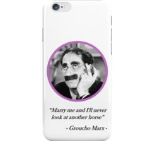 [Quote] Groucho Marx - Marry Me iPhone Case/Skin