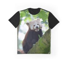 red panda on tree branch Graphic T-Shirt