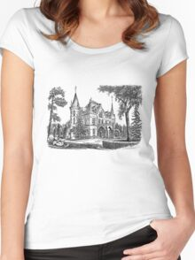 XIX century Palace in european city, Poland Women's Fitted Scoop T-Shirt