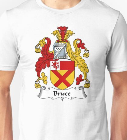 Bruce Coat of Arms / Bruce Family Crest Unisex T-Shirt