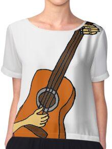 Cool Playing Guitar Art Chiffon Top