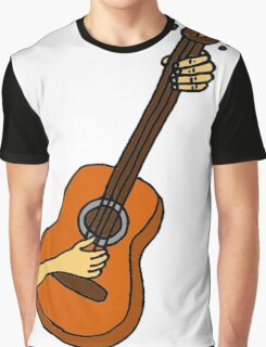 Cool Playing Guitar Art Graphic T-Shirt