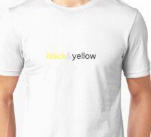 black and yellow Unisex T-Shirt