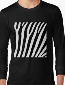 Zebra Stripes Skin Print Pattern Long Sleeve T-Shirt