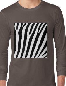 Zebra Stripes Skin Print Pattern Long Sleeve T-Shirt