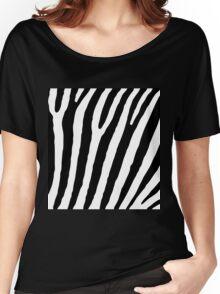 Zebra Stripes Skin Print Pattern Women's Relaxed Fit T-Shirt