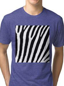 Zebra Stripes Skin Print Pattern Tri-blend T-Shirt