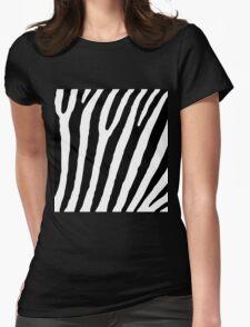 Zebra Stripes Skin Print Pattern Womens Fitted T-Shirt