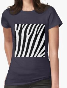 Zebra Stripes Skin Print Pattern Womens Fitted T-Shirt