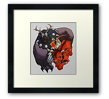 Red XIII and Moonkin Framed Print