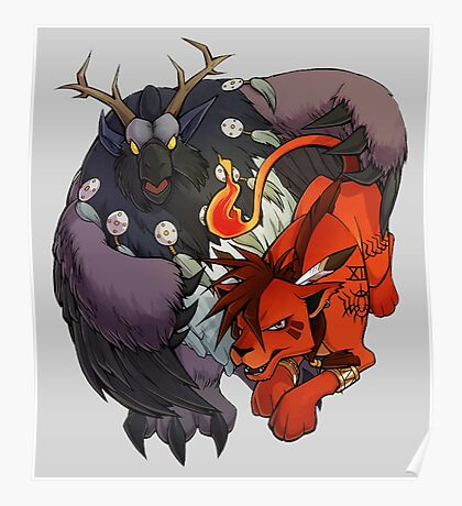 Red XIII and Moonkin Poster