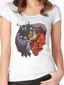 Red XIII and Moonkin Women's Fitted Scoop T-Shirt