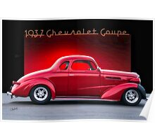 1937 Chevrolet Coupe 'Street Rod' Poster