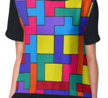 Tetris Blocks Pattern Chiffon Top