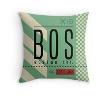 Boston Logan Airport Massachusetts  Throw Pillow