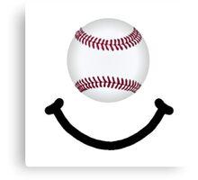Baseball Smile Canvas Print