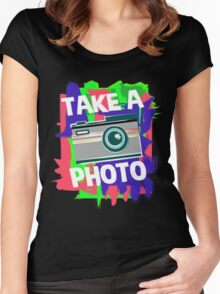 Cool Photographer design Women's Fitted Scoop T-Shirt
