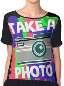 Cool Photographer design Chiffon Top