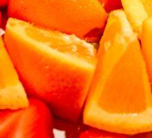Strawberries and Oranges  Sticker