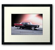 1955 Chevrolet Bel Air 'Two Door Hardtop' Framed Print