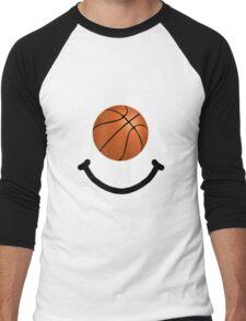Basketball Smile Men's Baseball ¾ T-Shirt