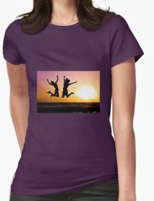Youth jumping Womens Fitted T-Shirt