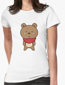 Brown Womens Fitted T-Shirt