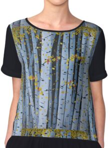 Ten Cardinals In Birch Trees Chiffon Top