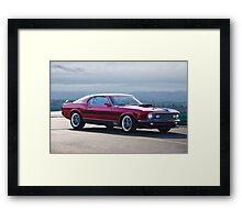 1970 Mustang Mach I Fastback Framed Print