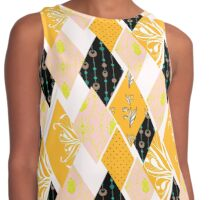 Patchwork floral seamless pattern texture background Contrast Tank
