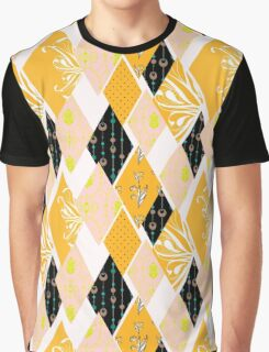 Patchwork floral seamless pattern texture background Graphic T-Shirt