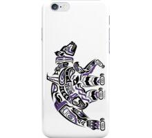 Kodiak - Original Haida, Tlingit Grizzly Bear Art - Purple iPhone Case/Skin