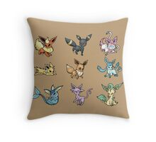 Eeveelutions (Travel mug & Pillow) Throw Pillow