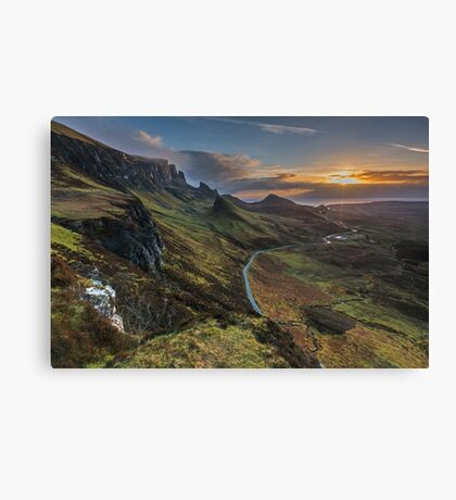 Sunrise over the Quiraing, Isle of Skye Canvas Print