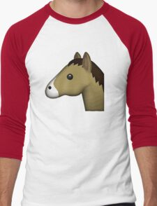 Horse Face Emoji Men's Baseball ¾ T-Shirt